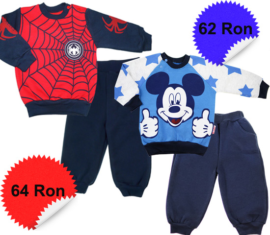 Haine baieti - trening Mickey Mouse si Spiderman