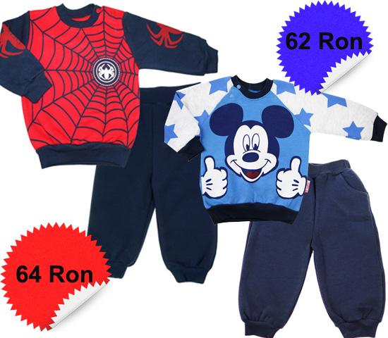 Haine baieti - trening Mickey Mouse si Spiderman