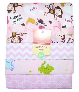 Set 4 scutece Carters model maimutica roz FIN28