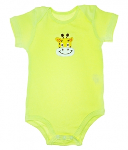 Body maneca scurta galben model girafa BD257