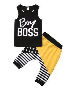 Costum galben Boy Boss