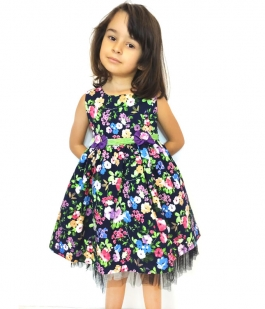 Rochita Princess cu model floral