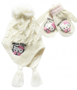 Set Hello Kitty cu manusi si caciula